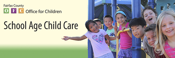 School aged child care banner